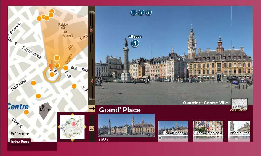 Visite virtuelle de Lille