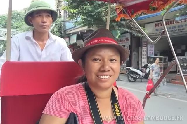 Cyclo pousse à Hanoï