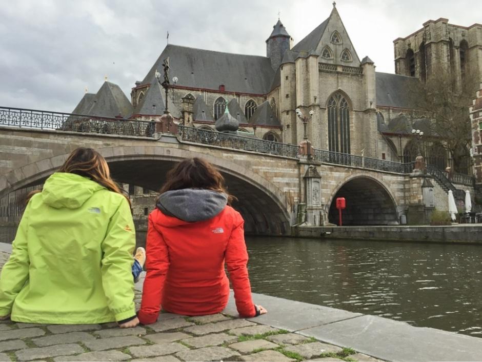 Pont et quais Korenlei Graslei à Gand