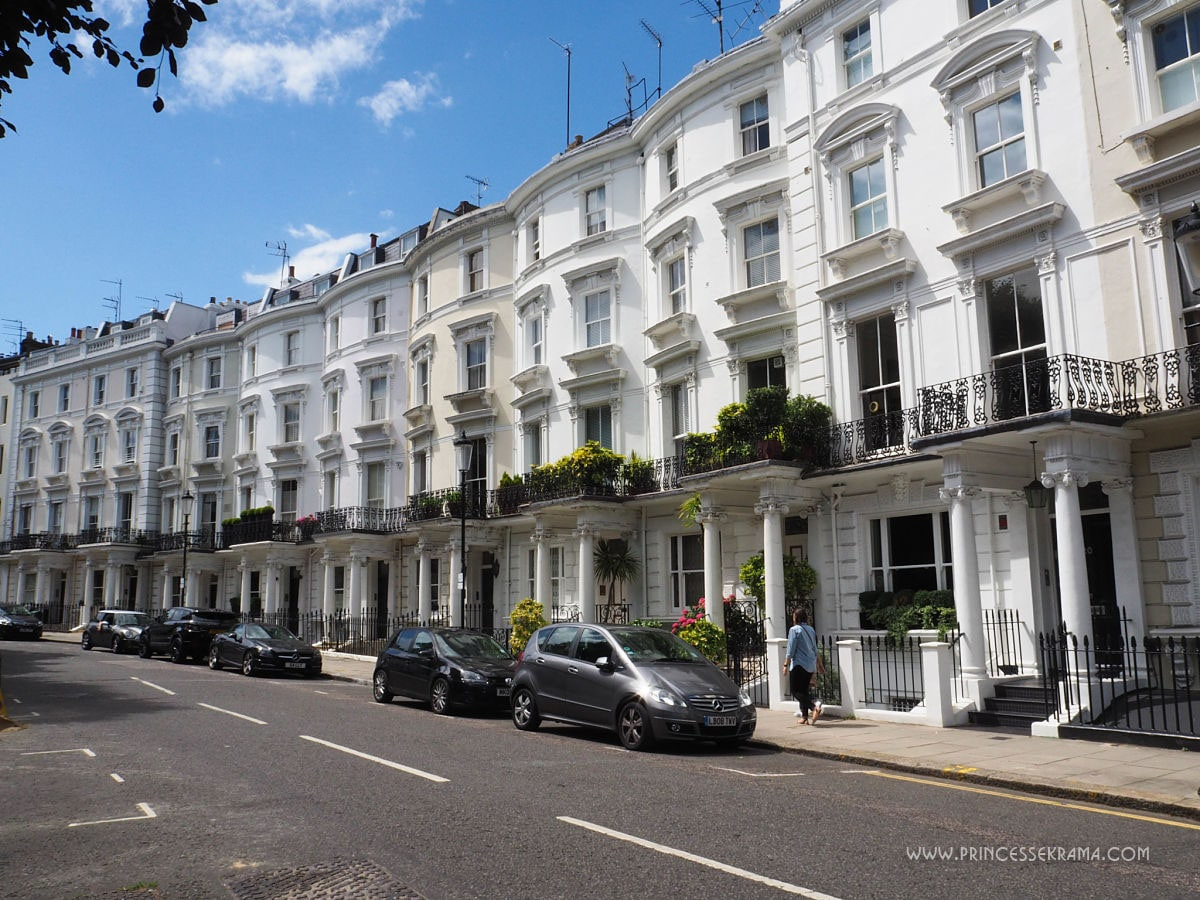 Maisons victoriennes à Notting Hill