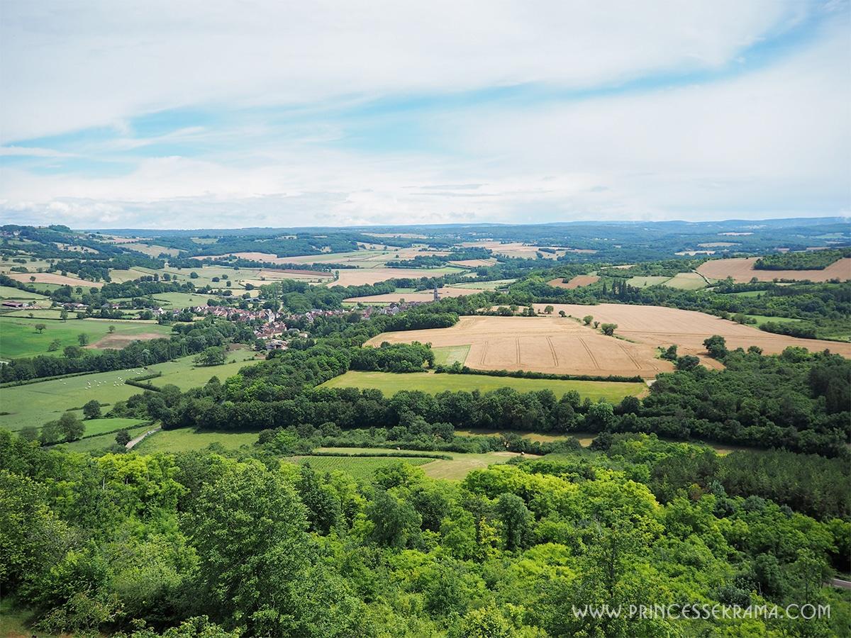 Vue de la colline de Vézelay sur la campagne