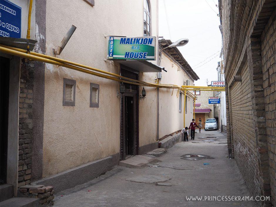 Conduits de gaz quartier juif à boukhara