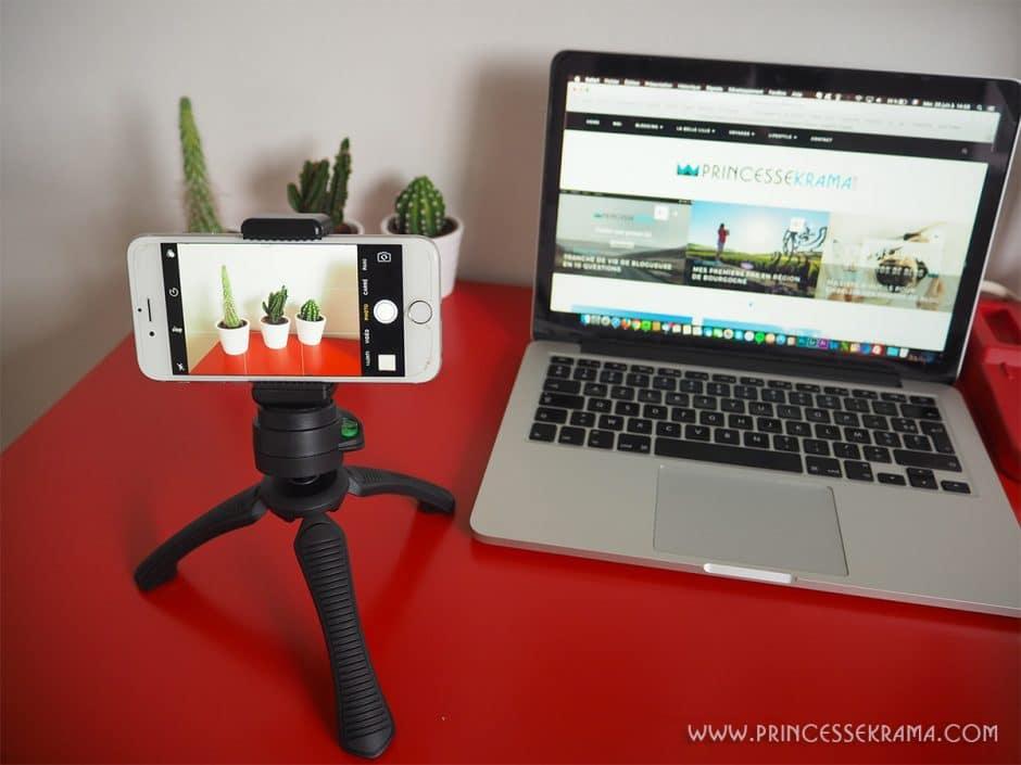 Trépied rigide Pixter pour avec smartphone