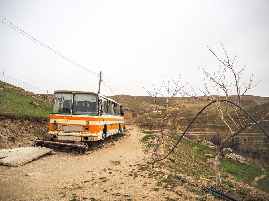 Bus abandonné à Pangate