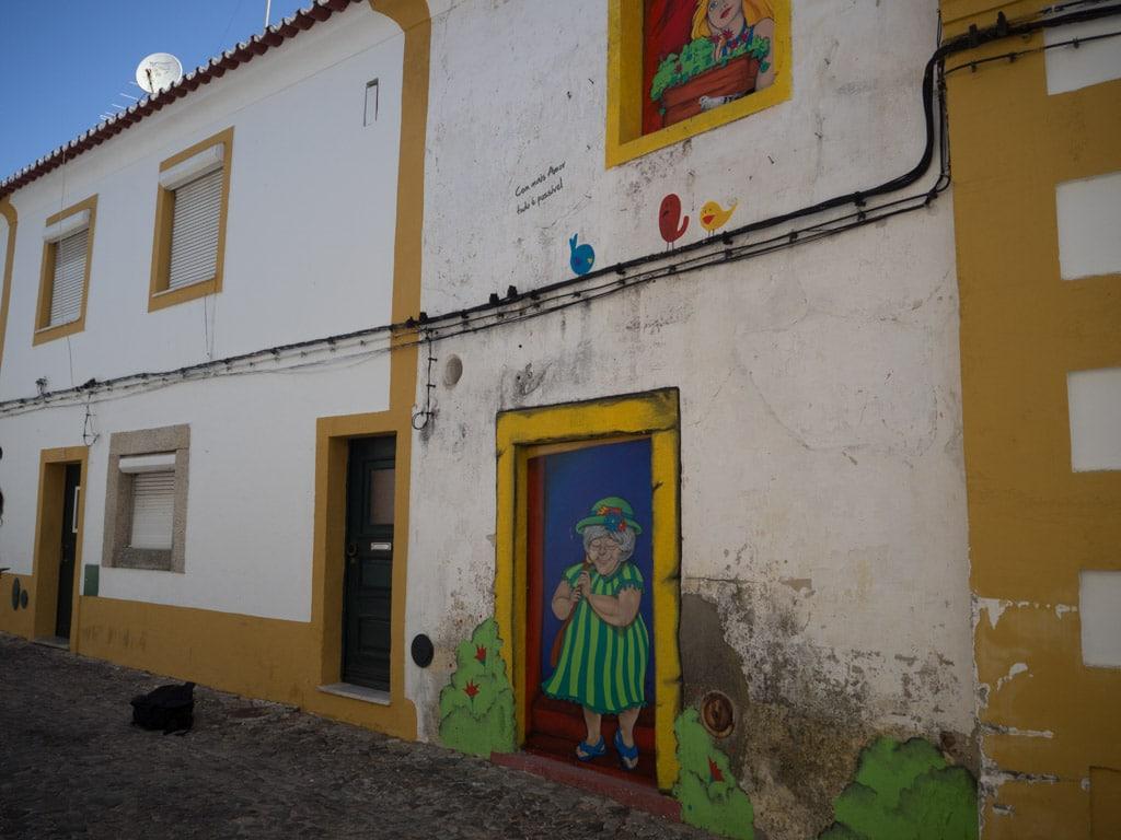 Façade de maison à Evora
