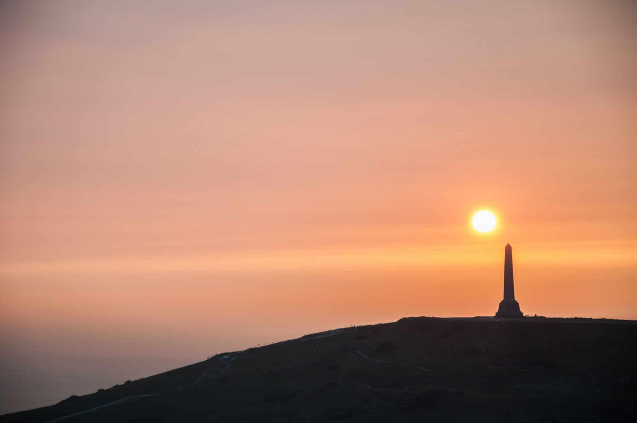 Coucher de soleil au Cap Blanc Nez