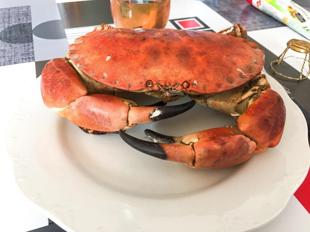 Crabe d'un poissonnier à Ambleteuse