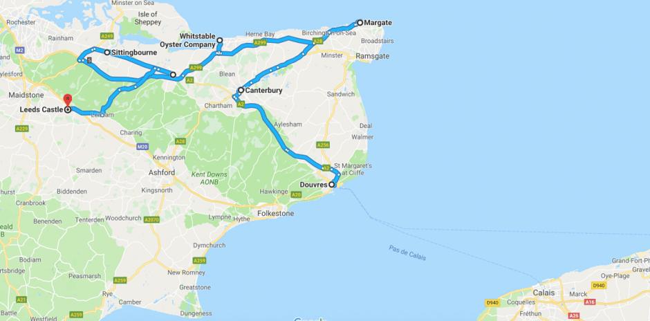 Itinéraire Kent